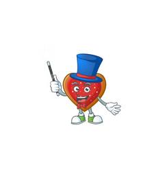 Cartoon character love cookies magician style vector