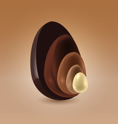 Chocolate shells vector image