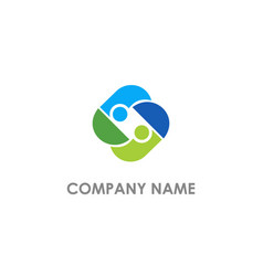 circle abstract partner logo vector image