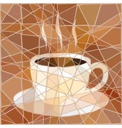 Coffee mosaic vector