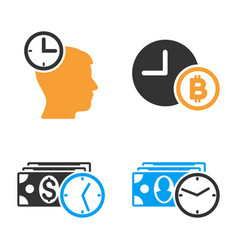 credit time icon set vector image