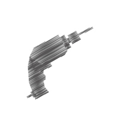 drill tool isolated icon vector image