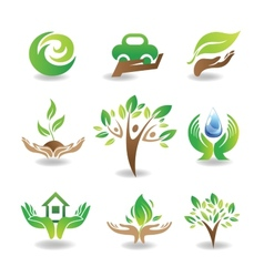 Eco Design Elements vector image