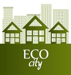 Ecolo city design vector image