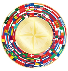 Flags around compass vector