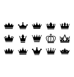 flat crowns vector image
