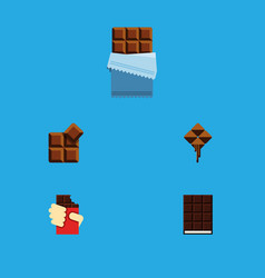 flat icon bitter set of cocoa bitter shaped box vector image