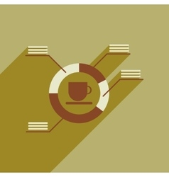 Flat web icon with long shadow coffee infographics vector