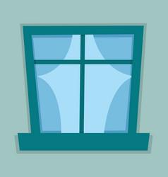 Flat window vector