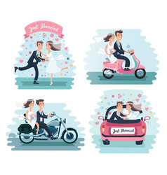 funny men - wedding vector image