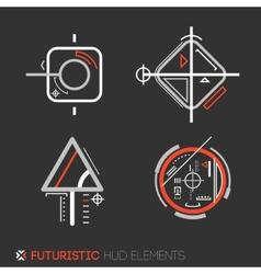 Futuristic HUD elements vector