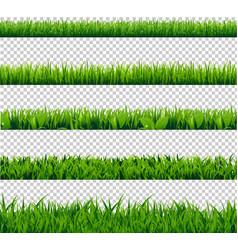 Grass border big set vector