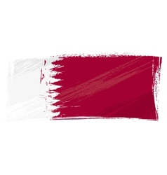 Grunge qatar flag vector