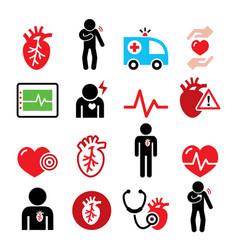heart disease heart attack cardiovascular diseas vector image