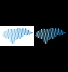 Honduras map hex tile abstraction vector