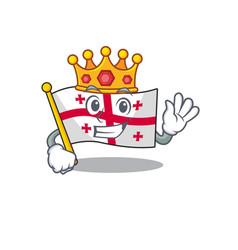 King indonesian flag georgia on cartoon character vector