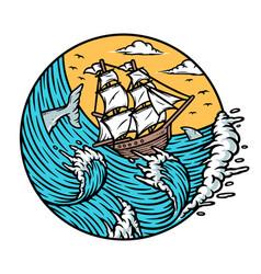 Let your dreams set sail vector