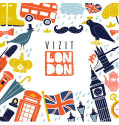 London frame background vector