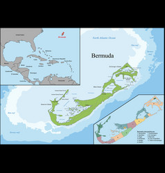 map of bermuda vector image