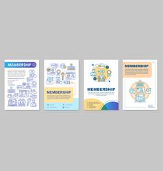 Membership brochure template layout vector
