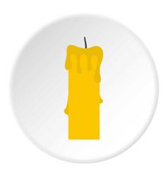 Memorial candle icon circle vector