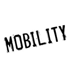 Mobility rubber stamp vector