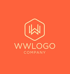 Monogram initial ww logo design vector