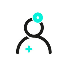 otolaryngologist isolated icon care worker vector image