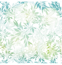 Pastel blue green tropical leaves summer vector