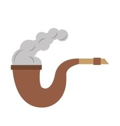 Pirate tobacco pipe smoke vector