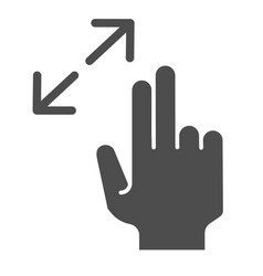 Resize gesture solid icon zoom in vector