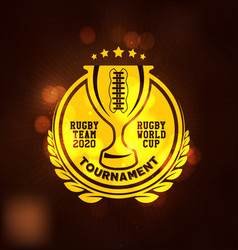 rugby tournament logo sport vector image