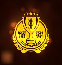 rugtournament logo sport vector image