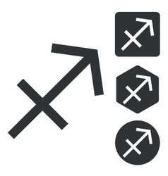 Sagittarius icon set monochrome vector