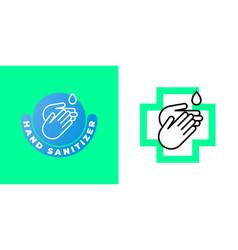 Sanitizer hand gel icon antibacterial wet towels vector