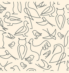 seamless pattern made of birds vector image