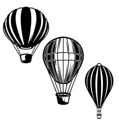 set air balloons design element for logo vector image