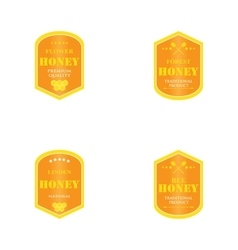 set of logos for honey products vector image