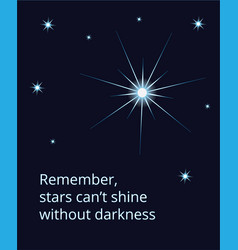 Shining expolosing supernova star on dark sky vector