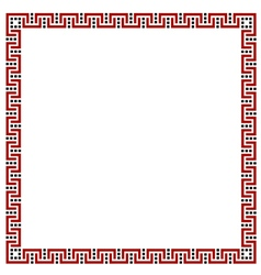 Simple geometric ethnic frame variation 4 vector