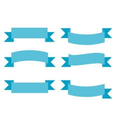 Simple Ribbons Group Set vector