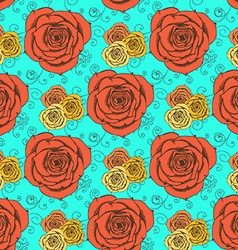 Sketch roses in vintage style vector image