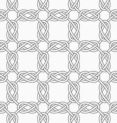 Slim gray square interlocking ornament vector image