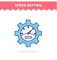 speed setting icon fill and line flat vector image