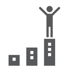 success glyph icon development and business vector image