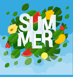 summer template design vector image