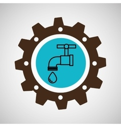 Symbol environment gear tap water vector