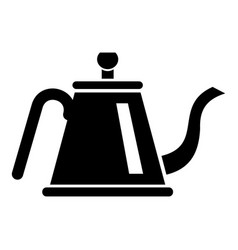 Teapot with ceremony icon simple style vector