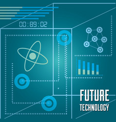 technology bar statistics diagram and circuits vector image