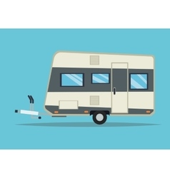 Trailer house vehicle and transportation design vector